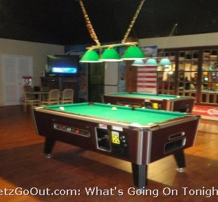 Both Front and Back Bars have Pool Tables